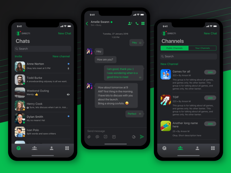 Dark theme for Flock dark app chat app iphone xs ios dark theme flock