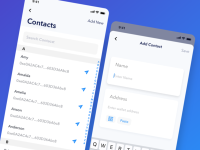 Adding a contact