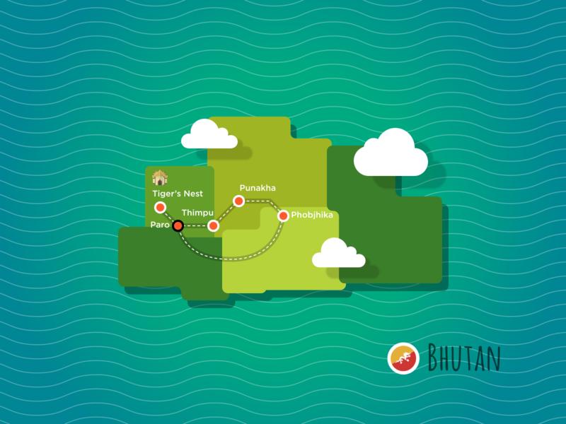 Bhutan Travel Map travel design maps bhutan travel map