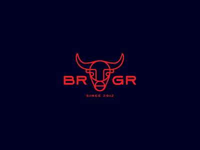 BRGR pittsburgh pgh bar burger bull mark branding logo