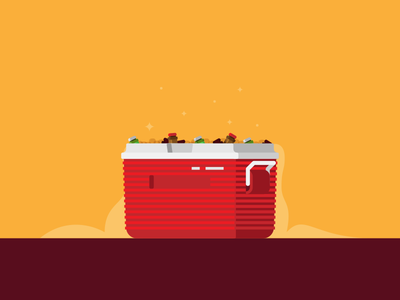 Chill. It's Friday. smoke flat cool cooler illustration beer friday chill