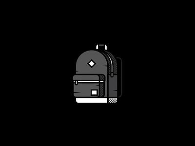 Monday minimal flat illustration herschel backpack rip gg monday viet huynh