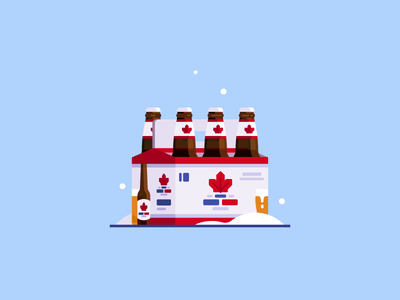 O Canada illustration snow canadian canada six pack brew beer molson