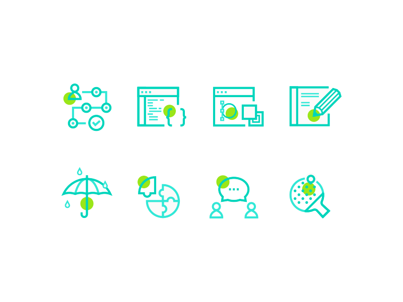 Line Illustrations ibm ping pong ui ux research visual front end connection icon line illustration