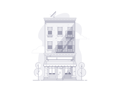 Brooklyn house illustration pixel grid brooklyn apartment home