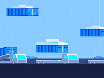 More Containers futuristic containers cargo trucks truck shipping docker digitalocean