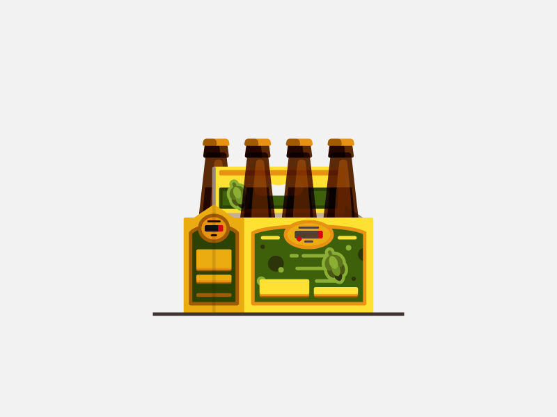 Jai Alai minimal flat illustration brewskies beer jai alai cigar city
