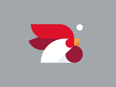 Year of the Rooster minimal animal mark illustration chinese new year rooster