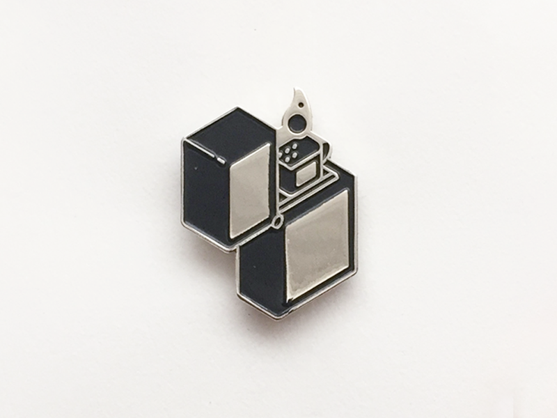 Find me at Creative South! columbus creative south enamel lighter pin