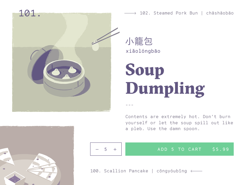 Menu Interface chinese interface dumpling cart order food ux ui menu