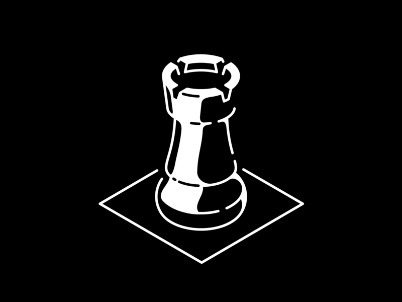 Guarded eatsleepvector illustration vector guard castle minimalism black and white games chess rook inktober