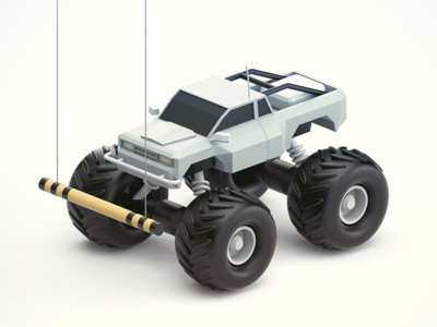 Maximum Clearance eatsleepvector wheels jeep render awkward driving vehicle model 3d truck
