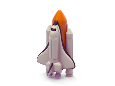 Space Shuttle adventure stars shuttle illustration minimal 3d launch nasa space