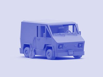Mr. Universe c4d cinema 4d eatsleepvector 3d illustration show vehicle guitar van steven universe wip