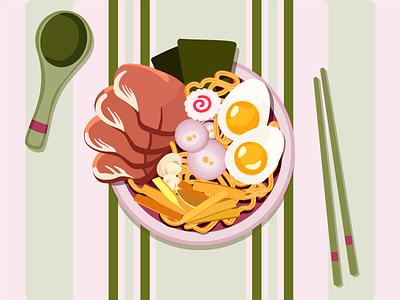 RAMEN food illustration first post ramen food vector illustration