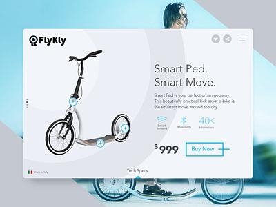 E-Commerce Shop minimal technology transport ebike slider buynow eshop smart 012 dailyui bike