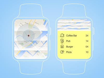Location Tracker minimal food destination zoom tracker location map 020 dailyui location tracker