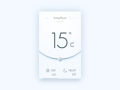 Home Monitoring smart climate room night day hot cold 021 dailyui monitoring home