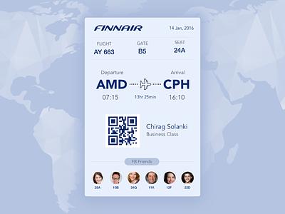 Boarding Pass pass journey ticket world flight travel qr ios 024 dailyui app boarding pass