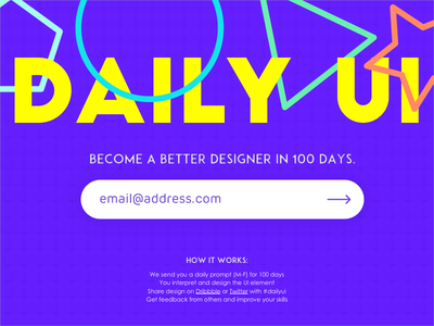 Subscribe challenge email 026 dailyui subscribe newsletter
