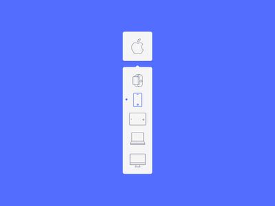 Dropdown menu list element website ux ui iphone iwatch 027 dailyui apple dropdown