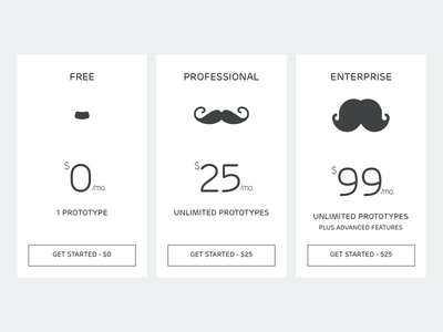 Pricing option mustache price 030 dailyui pricing cards