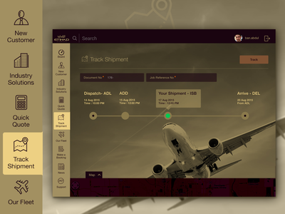 Track Shipment gold icon dubai airline shipment tracking app