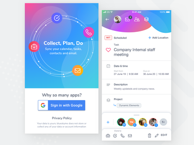 Task application clean design interface app minimal ui