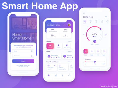 Smart Home App mobileappdevelopment appdesign iot development webdevelopment swift php photoshop javascript java android app ios app