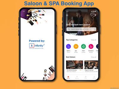 Saloon & SPA Booking App mobileappdevelopment ionic framework react native ui  ux webdevelopment swift photoshop laravel android app javascript java ios app