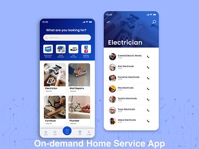 On demand Home Service App ui  ux photoshop laravel php javascript java swift webdevelopment android app ios app