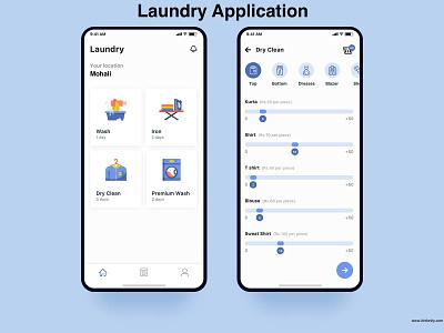 Laundry Service App ui ux photoshop react native ionic framework php webdevelopment swift javascript java android app ios app