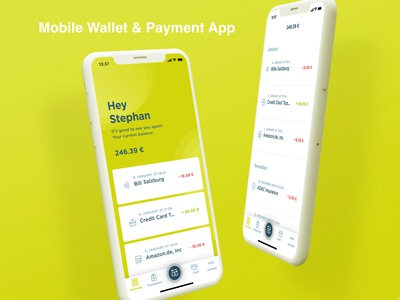 Mobile Wallet and Payment App mobileappdevelopment react native laravel php webdevelopment photoshop javascript java swift android app ios app