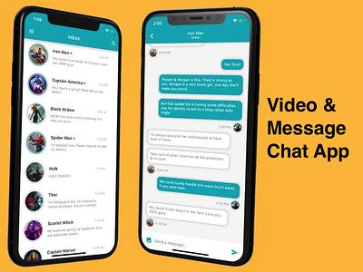 Video & Message Chat App mobileappdevelopment ui  ux php swift java webdevelopment photoshop android app ios app message app videochat videocall