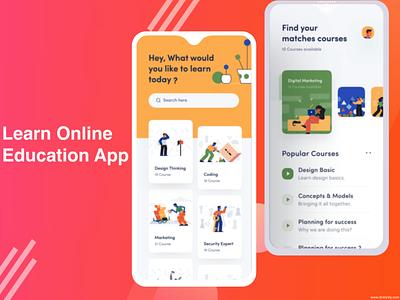 Learn Online - Education App mobileappdevelopment php photoshop javascript java swift webdevelopment android app ios app learning app education website education app