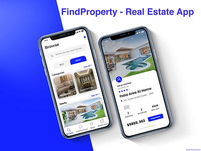 FindProperty - Real Estate App laravel mobileappdevelopment ui  ux javascript photoshop webdevelopment java swift android app ios app realestate