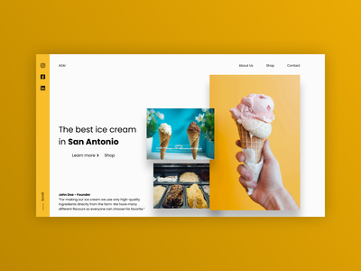 San Antonio ice cream ui design website web