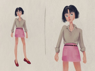 Girl illustration cute drawing people girl texture characterdesign illustration procreate design 2d art cartoon