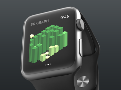 Contributions for GitHub on Apple Watch github watch 3d