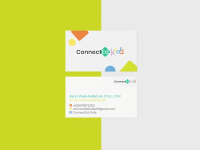 ConnectEd Kids brand identity logo design therapy clinic kids visual identity branding