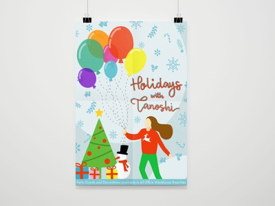 Illustration for Print Ad holidays christmas modern graphics digital art flat illustration illustration