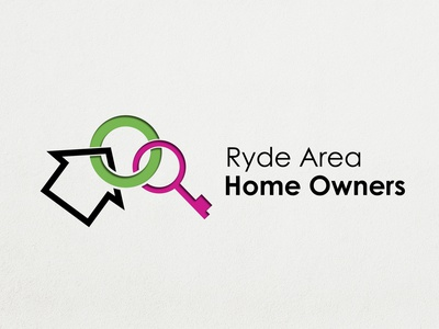 Logo for Ryde Area Home Owners minimalist m icon modern vector branding graphics logo