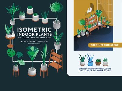 Isometric Indoor Plants