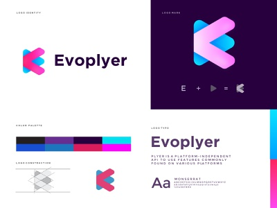 Evoplayer logo design evoplyer abstract trend 2021 best logo designer in dribbble best logo design player logo player media logo design creative creative logo modren logo modern concept design logotype logodesign logo