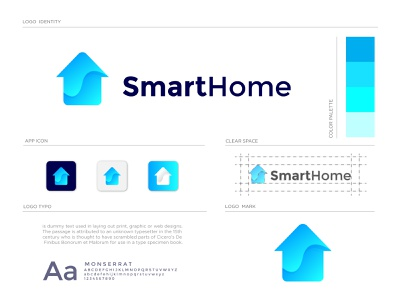 smart home logo design branding brand identity branding icon app monogram logo abstract rental house home real estate concept clean creative brand mark logomark logodesign logos logo