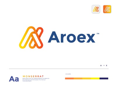 aroex logo design logo design branding brand identity trend 2021 best designer best logo abstract technology school minimalist icon app creative concept color gradient agency modern logodesign logo