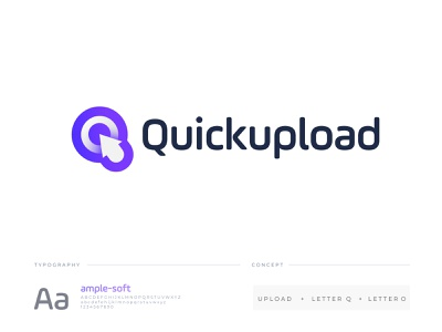 Quick upload logo design brand mark logodesigner branding brand identity minimal icon nopqrstuvwxyz abcdefghijklm logo mark logodesign abstract modern creative charging cable internet uploader upload logo design logo