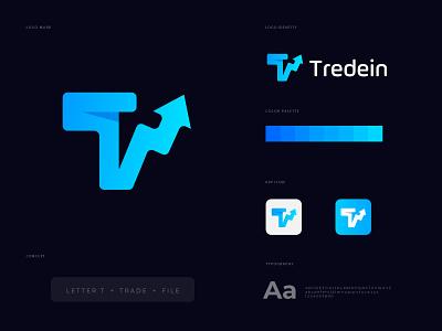 Tradein logo design logo logodesigner tradin type branding creative logodesign modern abstract concept nopqrstuvwxyz abcdefghijklm lettering cryptocurrency crypto trade designer icon mark identity