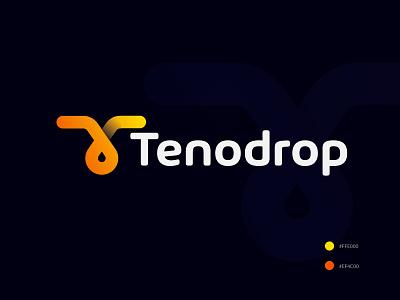 Tenodrop logo design logos identity logodesign lettermark oil water drop design creative abstract concept modern logo