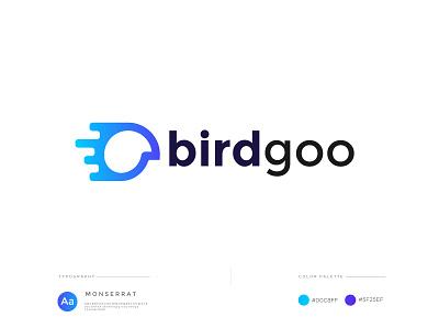 Birdgoo logo design logos identity logodesign branding creative abstract concept trand 2021 modern minimal bird logo logo design minimalist minimal modern go fast sky fly bird logo